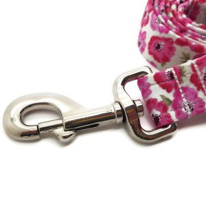 Pink Poppies Dog Lead