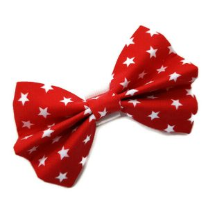 Red and White Stars Bow Tie