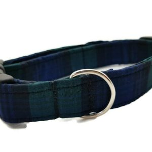 Black Watch Tartan Dog Collar